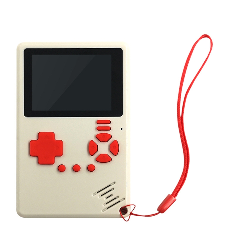 Ultra Thin Mini Handheld Game Console Rechargeable 2.4 Inch Color LCD Kids Two-Player Built-in 500 Games