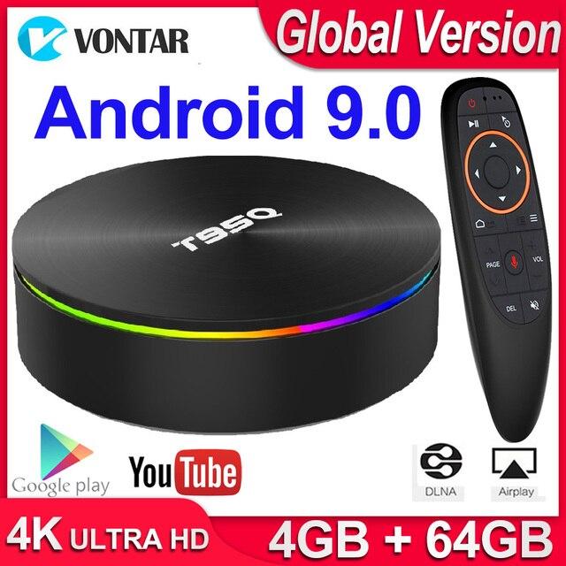 TV BOX T95Q, Android 9,0, 4K, dispositivo de TV inteligente, Android 2,4, 4GB de RAM, 32GB 64GB de ROM, Amlogic S905X3, wi fi 3,0 y 5G, Bluetooth 265, USB H.