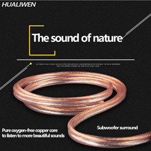 Diy alto cabo de áudio hi-fi cabo de áudio fio de áudio de cobre sem oxigênio para amplificador de cinema em casa ktv sistema dj