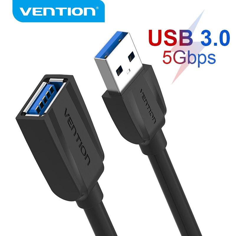 Vention USB Кабель USB 3,0 удлинитель мужской и женский 3,0 2,0 USB удлинитель Кабель для PS4 Xbox Smart TV PC USB удлинитель
