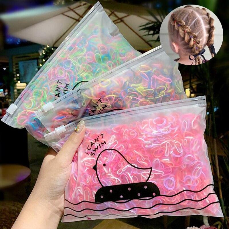 2000 шт./пакет девочек цветной зарядный кабель в нейлоновый оплетке с небольшой резинки для волос Дети хвост держатель резинкой повязка на голову, Детские аксессуары, носки Аксессуары для волос для девочек      АлиЭкспресс