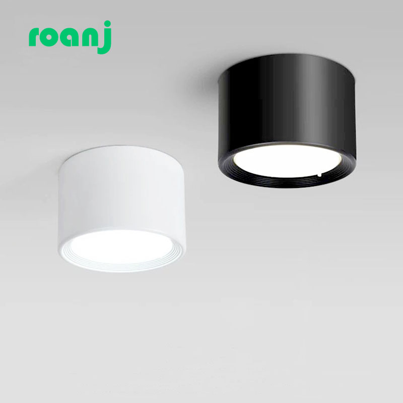 Surface Mounted 12W 15W LED Downlight Driverless Ceiling Lamps 5W 7W 9W Cob Led Spot Lights Ceiling Fixtures Lighting WHITE