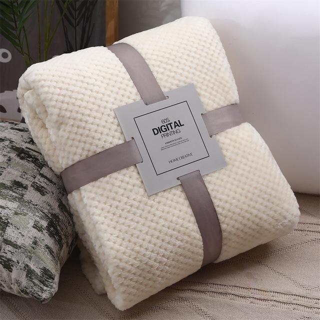 Blanketry Woollen blanket Bedclothes Bedroom accessories Bed Blanket Solid Super Soft Air-conditioned pet quilt comfortable New