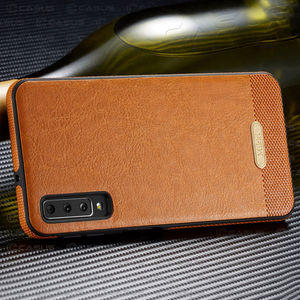 Image 3 - For Samsung Galaxy A10 A50 Case Luxury Vintage PU Leather Back Thin Cover Case For Samsung Galaxy A30 A40 A70  M10 M20 Case