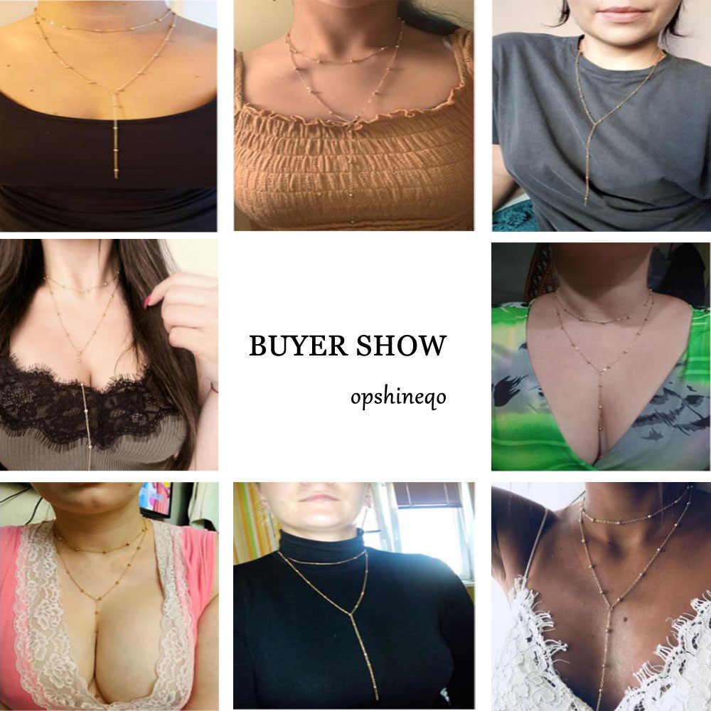 新しいジュエリーゴールドカラーネックレス女性多層ネックレスためのスパンコール多層ペンダントネックレス 2019 卸売