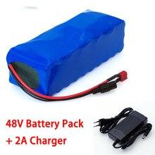 LiitoKala batería de litio de 48V 12ah, paquete de batería de bicicleta eléctrica con cargador de 54,6 v 2A para motor de 500W 750W 1000W