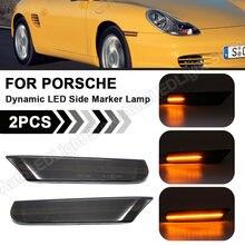 2XSmoke/Klar Für Porsche Boxster 986 911 Coupe Cabrio Targa (996) LED Dynamische Seite Marker Blinker Licht lampe anzeige