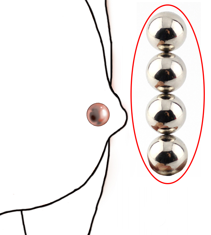 4PCS Powerful Pleasure Magnetic Orbs,Pinched Pleasure Nipple Clamps,Ball Stretcher,Placed On Pussy,Adult Sex Toys