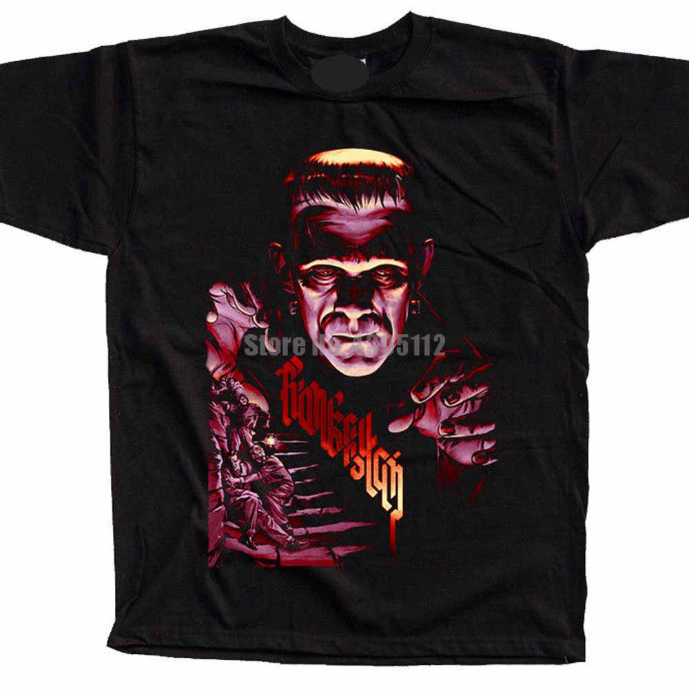 Frankenstein Movie Poster Youth Anime Shirts Loki T-Shirts Motorcycle Shirt Oversize Shirts Gift To Husband Hjvppr image