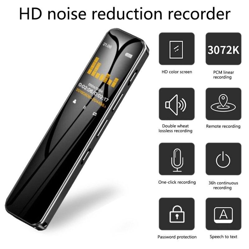 8GB/16GB Mini taşınabilir dijital ses aktif kaydedici dersler için ve toplantılar gürültü azaltma net ses ses kaydedici MP3