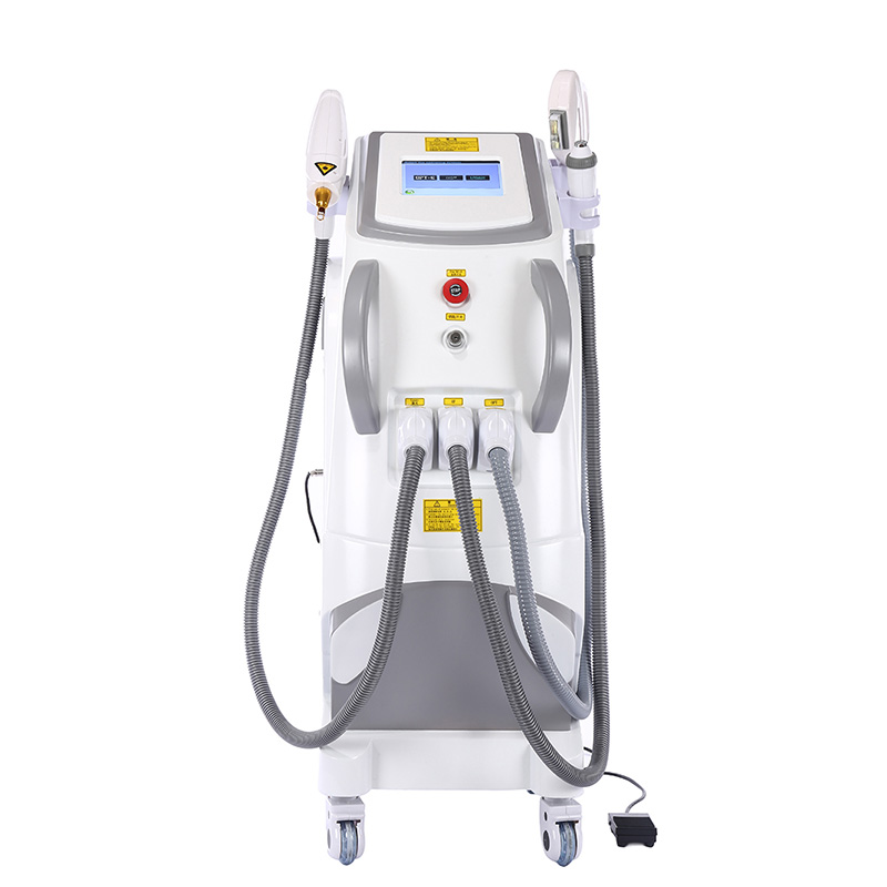 Factory price IPL SHR /RF/Elight/ND yag laser for black carbon doll skin peeling hair removal and removal tattoo machine