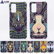 Luxo floresta rei asteca animais rostos leão lobo coruja padrão pc capa dura de telefone impressão para huawei honra v30 v30 pro