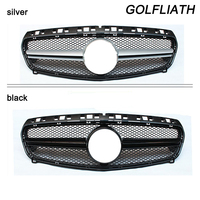 GOLFLIATH W176 ABS Black Front Grill Grille for Mercedes Benz A CLASS A180 A200 A260 A45 AMG 2013 2014 2015