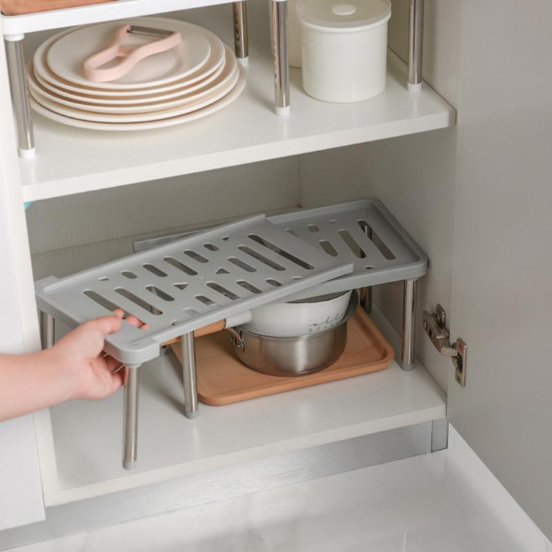 Under Sink Pantry Organizer Kitchen Storage Rack Home Closet Organizer Storage Shelves Expandable Stackable Desktop Holder Shelf