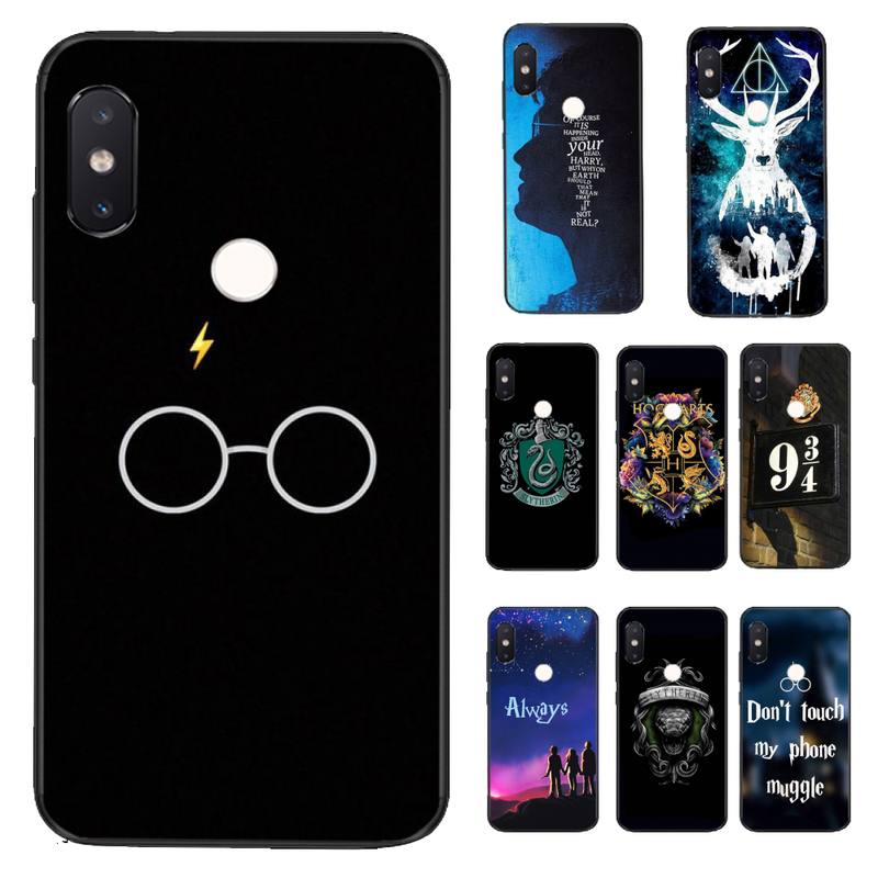 YNDFCNB Harries Potter Soft black Phone Case for Xiaomi Redmi 5 5Plus 6 6A 4X 7 7A 8 8A 9 Note 5 5A 6 7 8 8Pro 8T 9