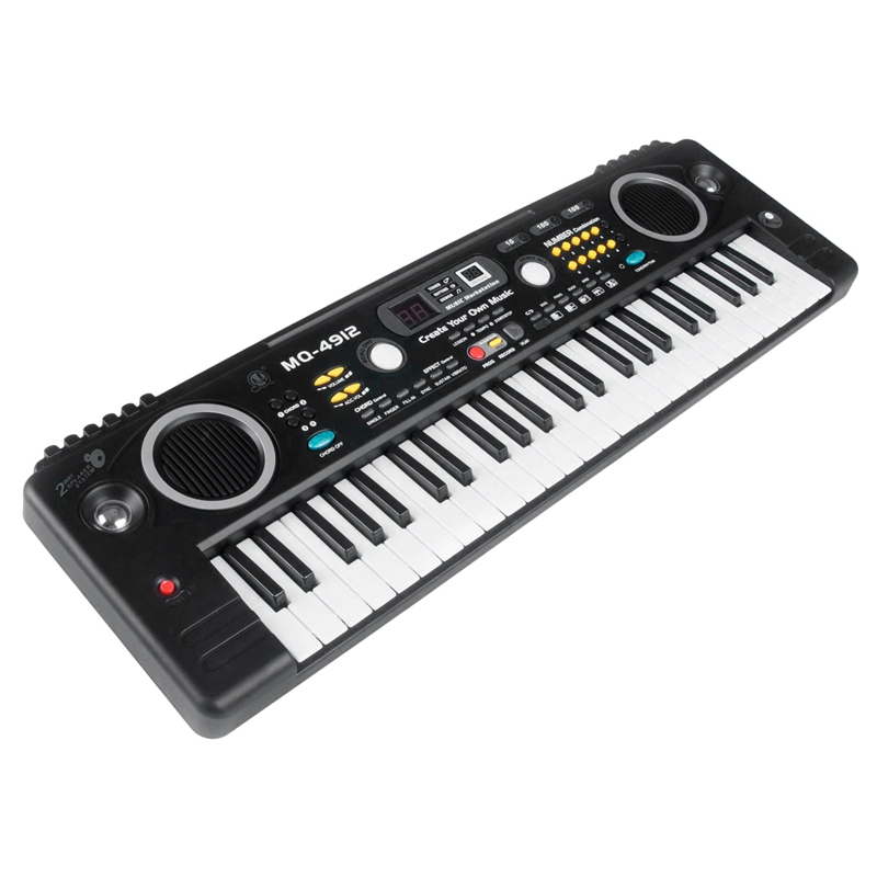 MQ Mq-4912 49 Key Music Digital Electronic Keyboard Piano with Microphone- Portable for Kids & Beginners