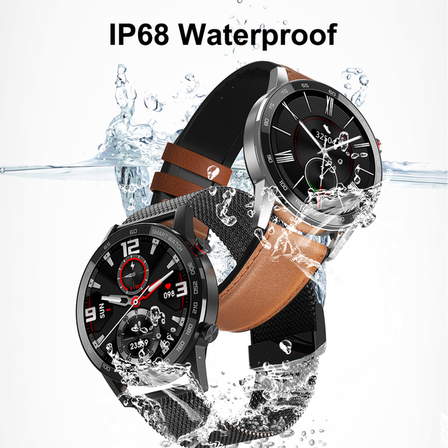 2020 New DT95 Smart Watch IP68 Waterproof Bluetooth Call 360*360 ECG Heat Rate 1.3inch TFT Sleep Monitor VS L16 L13 Smartwatch 4