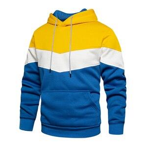 Мужские толстовки, свитшоты с длинным рукавом, Осень-зима, повседневные флисовые худи, Топ бренд, блузка, спортивные костюмы, толстовки с кап...