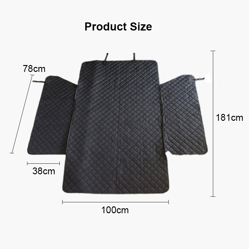 Image 5 - Lanke Dog Car Seat Cover,Waterproof Anti dirty Auto Trunk Seat  Mat,Pet Carriers Protector Hammock Cushion With Safety BeltDog  Carriers