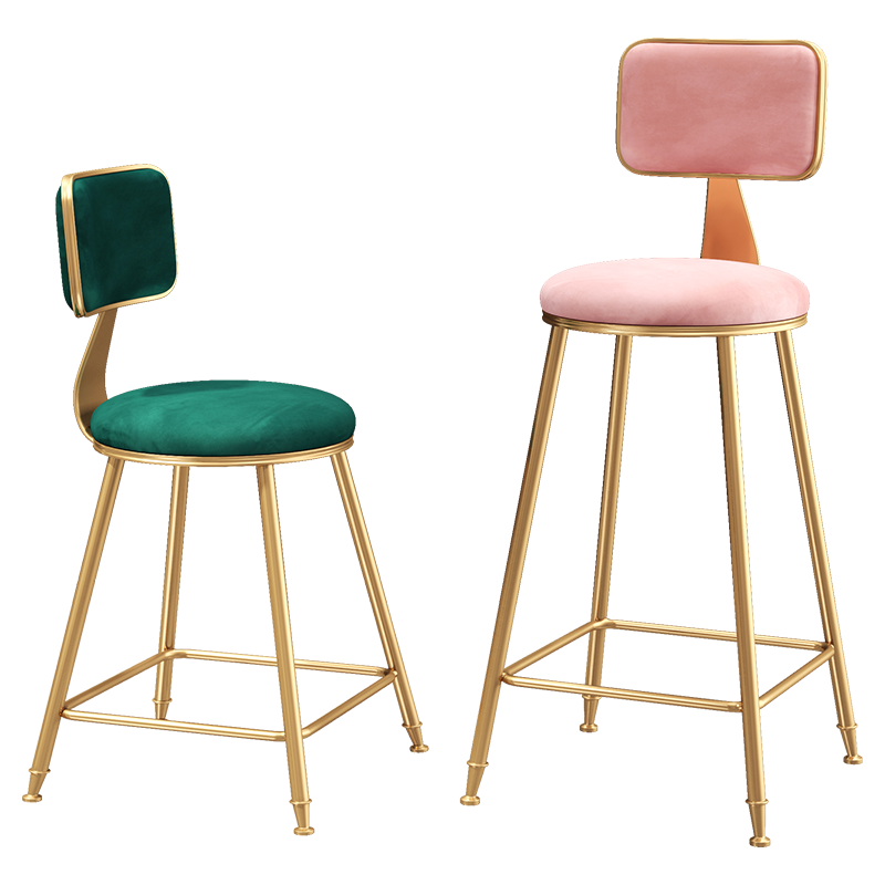 France Free Bar Chair Simple Iron Bar Dining Chair Modern Cafe Leisure High Stool Nordic Wind Home Bar High Chair