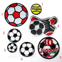 Lijm Doek Stickers Borduurwerk Voetbal Tennis Sport Badges Fans Team Kleding Patch Stickers Down Stickers A642 Logo(China)