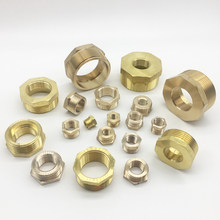 "1/8"" 1/4"" 3/8"" 1/2"" 3/4"" 1"" BSP Male To Female Brass Bushing Reducing Pipe Fitting Connector Adapter Water Gas Fuel Home Garden(China)"