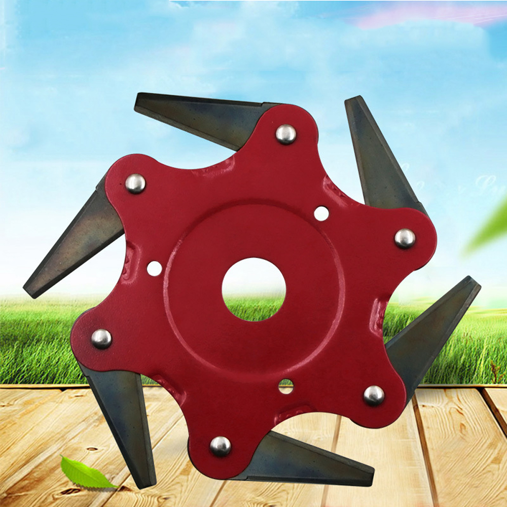 6 Teeth Brush Cutter Blade Trimmer High-quality Manganese Steel Blades Trimmer Head  Garden Grass Trimmer Head For Lawn Mower