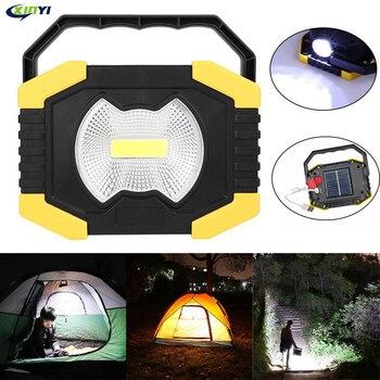 Foco portátil de 100W luz LED de trabajo Linterna recargable con USB Luz de energía Solar batería integrada de 2400mAh para luz de camping