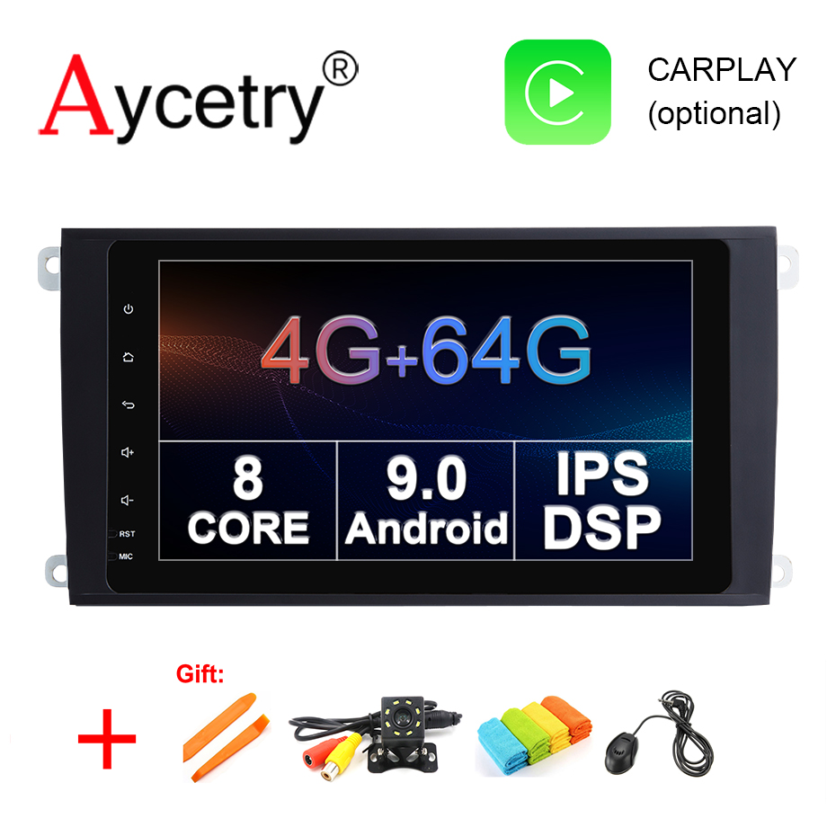 IPS DSP 8 Core 4G 64G 2 Din Android 9 Car multimedia Player dvd GPS for