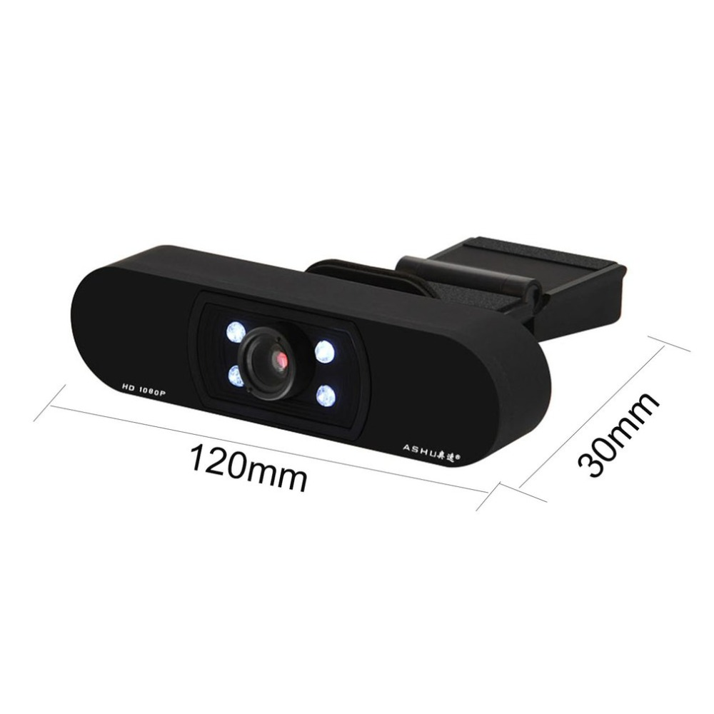 HD 1080P USB Webcam with Autofocus and 5 Layer Optical Lens for Desktop/Laptop 17