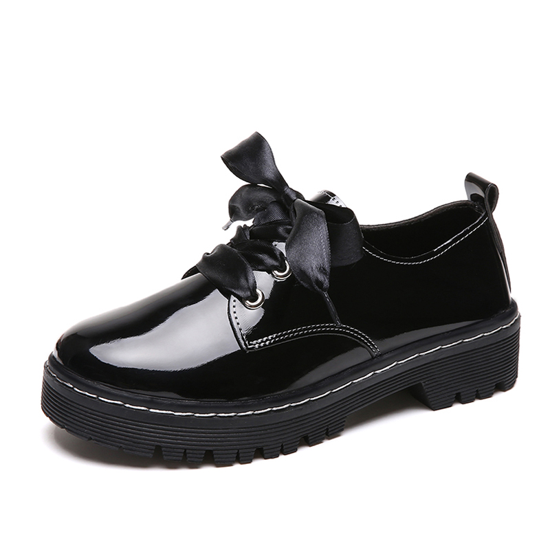 Oxford Shoes For Women Shoes Woman Leather Ladies Shoes Female Flats Spring Autumn Lace Up Casual Shoes Plus Size Zapatos Mujer