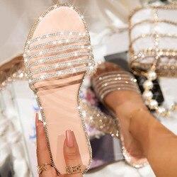 Sommer Frauen Damen Fashion Casual Flache Retro Hausschuhe Kristall Schuhe Sandalen Freizeit Sandale Weibliche Strand Flip-Flops Gelee schuhe
