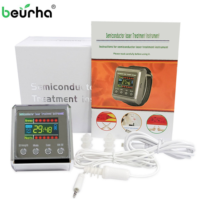 Dropshipping650nm กายภาพบำบัดไซนัสนาฬิกาข้อมือไดโอด LLLT สำหรับโรคเบาหวานความดันโลหิตสูง Treatment เบาหวาน Therapy Instrument