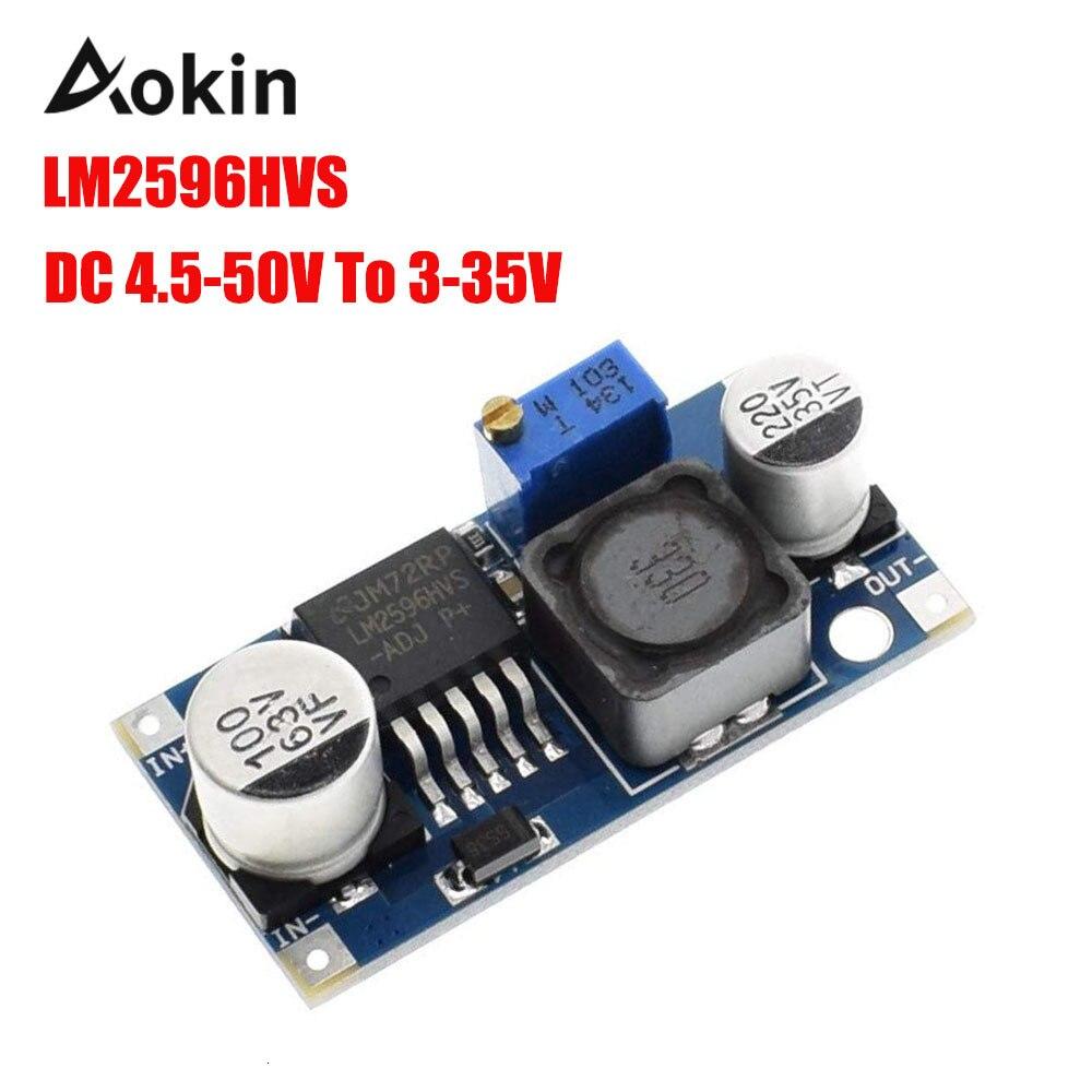 Lm2596hvs Lm2596 Hv Lm2596hv Dc-dc Adjustable Step Down Buck Converter Power Module 4.5-50v To 3-35v Dc To Dc