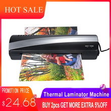 A4 9 Width Photo Paper Hot and Cold Thermal Laminator Machine Two Roller 3-5min Quick Warm-up Fast Laminating Speed Jam-release 2017 new 12 generation m230 8230 laminator a4 rollers laminator hot roll laminating machine