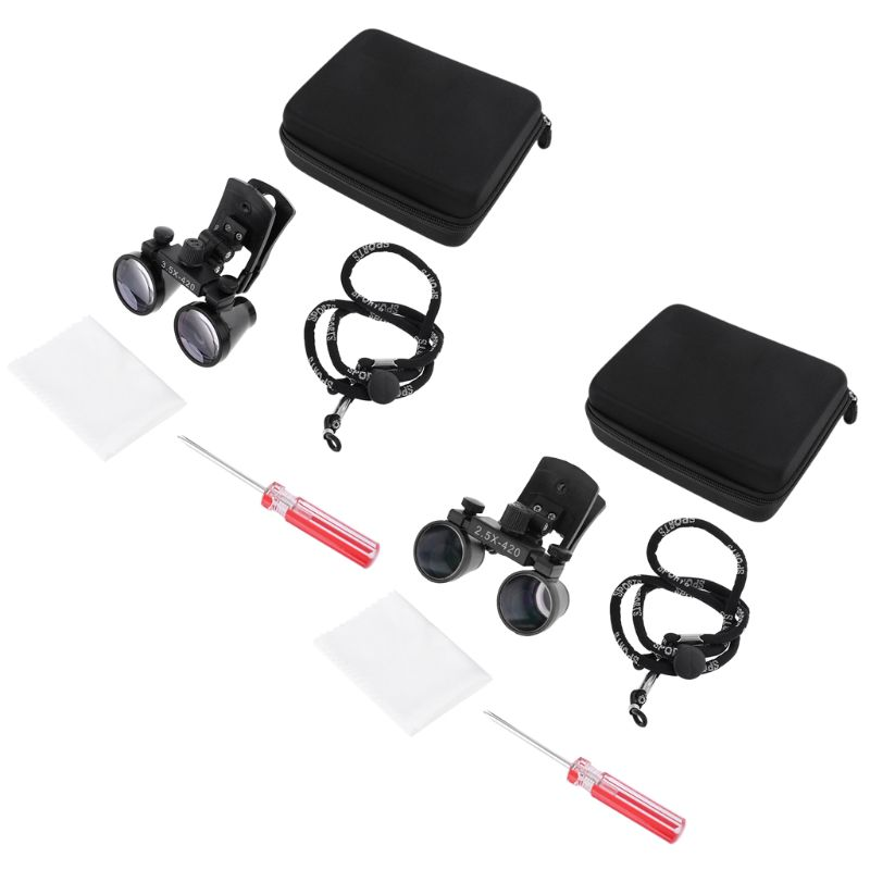 2.5X/3.5X Dental Loupes Binocular Medical Magnifier Dentistry Surgical Clip Loupe Magnifying Glasses