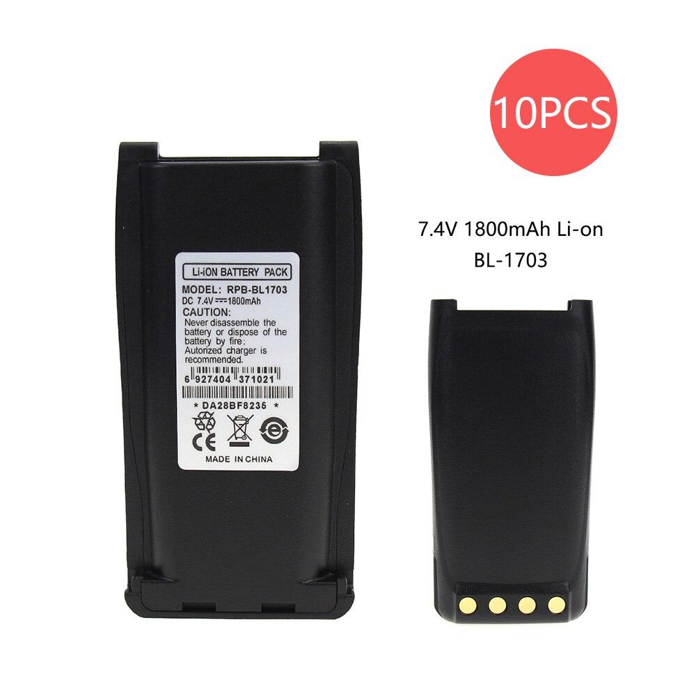 10X Replacement Battery For HYT TC 800M TC-700 TC-700U TC-700V TC-710 Part NO BH1801 BL1703 BL1703Li BL2102