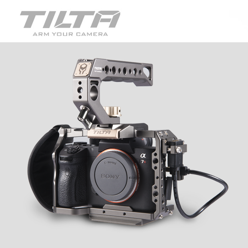 Tilta A7 A9 Rig Kit A7 iii Full Cage TA T17 A G Top Handle  baseplate Focus handle For Sony A7 A9 A7III A7R3 A7M3 A7S3Photo Studio  Accessories