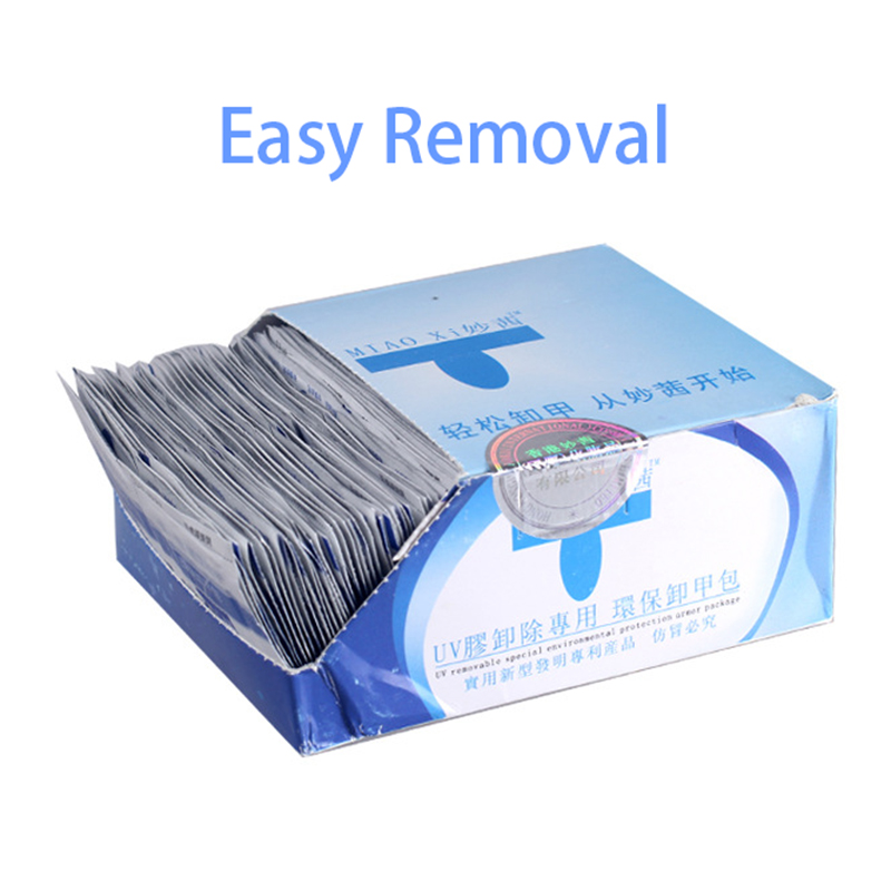 100Pcs Degreaser For Nails Gel Nail Polish Remover Wipes Napkins For UV Gel Remover Nail Art Manicure Cleanser