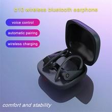 Спортивные наушники Bluetooth для бега наушники ушные крючки беспроводная гарнитура зарядка Регулировка голоса громкой связи для iphone всех смартфонов
