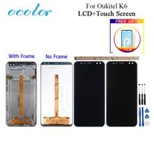 """Ocolor Voor Oukitel K6 Lcd scherm En Touch Screen Met Frame 6.0 """"Digitizer Vergadering Vervanging Met Gereedschap En Lijm + Film"""