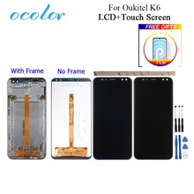 "ocolor For Oukitel K6 LCD Display And Touch Screen With Frame 6.0"" Digitizer Assembly Replacement With Tools And Adhesive + Film"