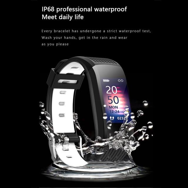 Men Smart Watch Fitness Tracking Smart Wristband Heart Rate Monitoring IP68 Waterproof Women Sports Tracker Bracelet 4