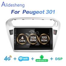 2G+ 3 2G DSP 2 din Android 8,1 4G чистая Автомобильная радио мультимедиа видео плеер для peugeot 301 Citroen Elysee радио 2013- WiFi BT