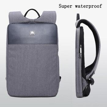 Slim ultra-light notebook 15-inch computer bag water-repellent backpack men's ultra-light business bag office work backpack ultra light настольный светильник собака 18вт клл ultra light голубой