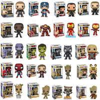 FUNKO POP Los vengadores de Marvel 4, figura de Thanos de Capitán América, Iron Man, Spiderman, Thor, adornos, juguetes para niños, regalos de cumpleaños