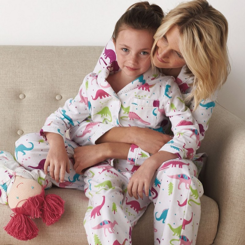 Mother Daughter Sleepwear Christmas Family Pajamas Sets Dragon Print Mommy And Me Clothes Family Matching Pajamas Outfits Look