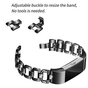 Image 4 - OULUCCI יהלומים עבור Fitbit תשלום 3 להקת מתכת רצועת נירוסטה ReplaceableFor fitbit תשלום 3 צמיד נשים