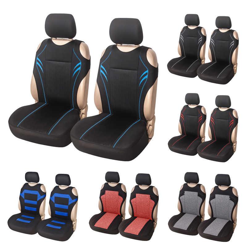 Чехлы AUTOYOUTH для автомобильных сидений, универсальные сетчатые чехлы для сидений, дизайн футболки, чехлы для передних сидений, чехлы для сидений, комплект из 2 предметов