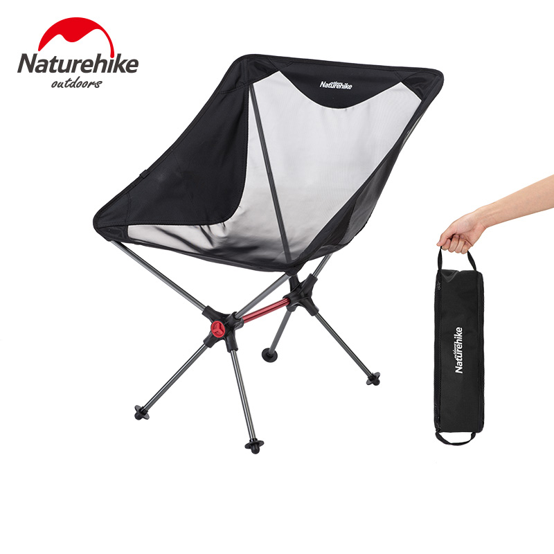 Naturehike Camping Folding Fishing Chair Ultralight Outdoor Portable Aluminium Alloy Beach Chair Barbecue Travel Moon Chairs